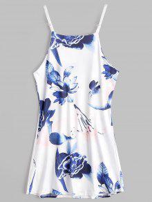فستان الشمس كامي مصغر طباعة الأزهار - الأزهار M