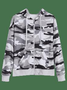 Camo Camuflaje Sudadera Zipper Capucha Xl Up Con 4qO8nw6px