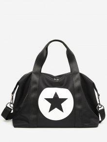 نجمة اللون كتلة رياضة حقيبة - أسود