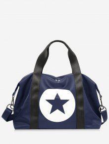 نجمة اللون كتلة رياضة حقيبة - أزرق