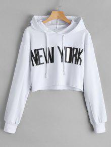 تمزق، نيويورك، تونيك، هودي - أبيض S