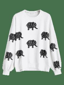 Del La Impresi 243;n De Hombro Elefante Gota Blanco Del OxqC7fqTw