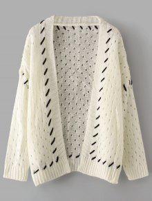 Casaco De Manga Comprida Transparente Contrastante - Branco