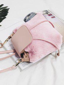 94b38de9b343 28% OFF] 2019 Fluffy Drawstring Cross Body Bag In PINK | ZAFUL
