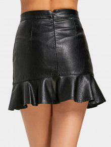 8938853bf 33% OFF] 2019 High Waist Faux Leather Mermaid Skirt In BLACK | ZAFUL