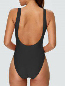 1b9384cb3 33% OFF   HOT  2019 High Cut Backless Swimsuit In BLACK