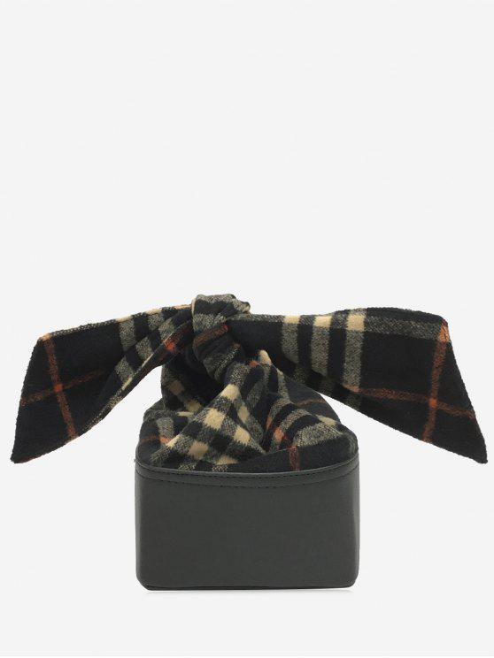 Sacchetto di Crossbody del Bow Bowknot della catena della scatola - Nero