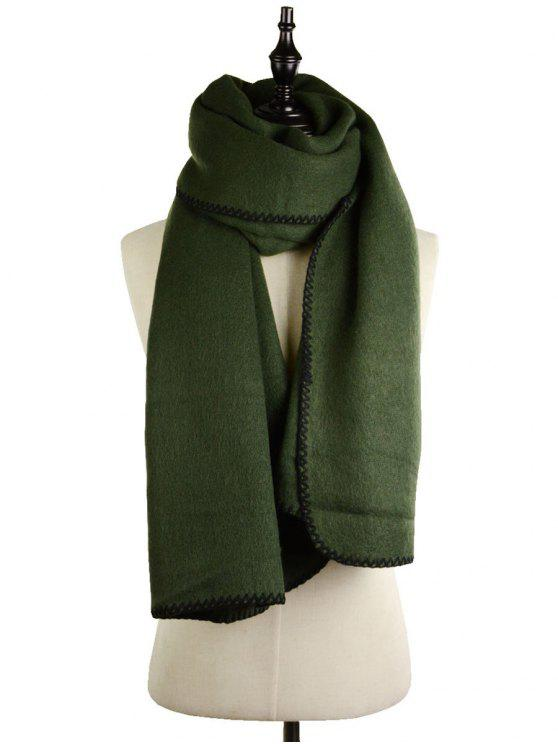 outfits Cover Edge Thicken Scarf - BLACKISH GREEN