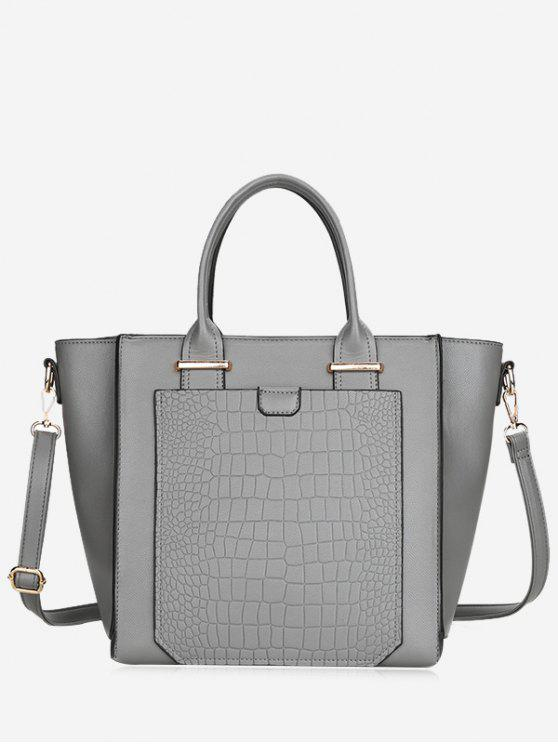 Sac à Main Crocodile en Cuir Artificiel - gris