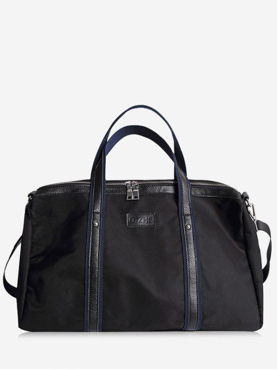 Remaches Zipper Gimnasio Bolsa - Negro