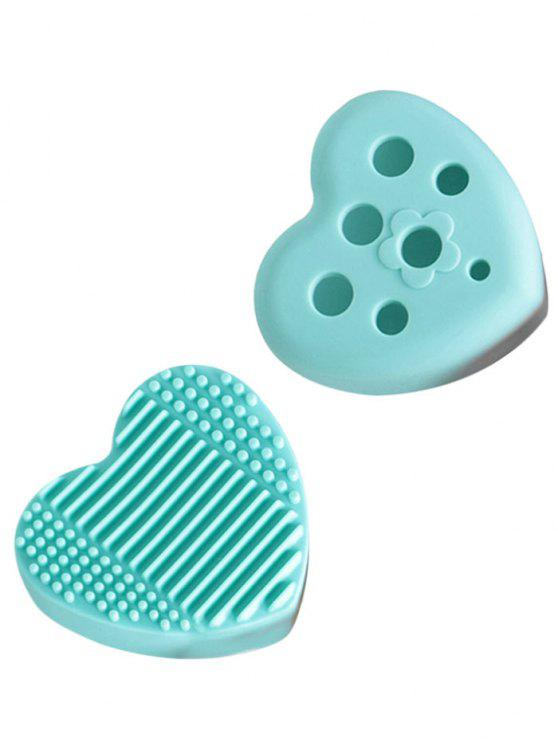 ladies Heart Shape Cleaning Tool Brush Eggs - MINT