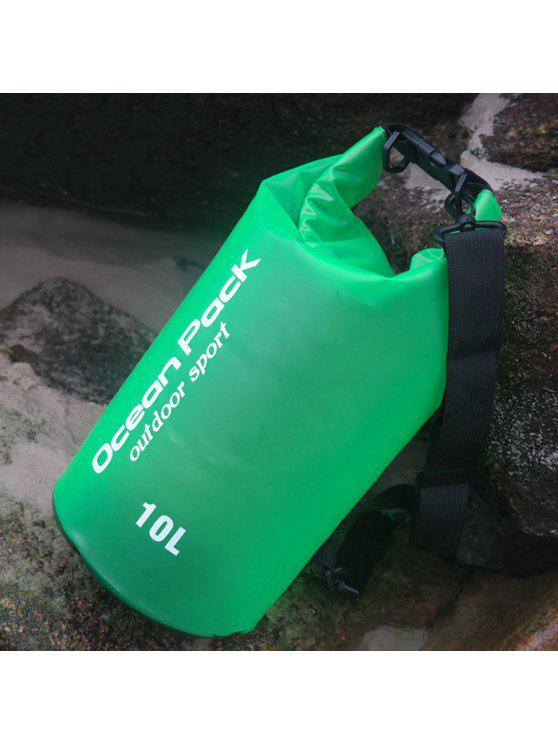 ladies Outdoor Sport Beach Waterproof Bucket Bag - GREEN