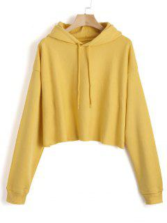 Sweat à Capuche Tunique Simple - Jaune