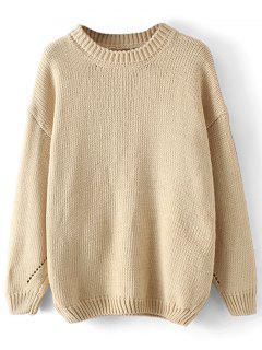 Schiere übergroße Pullover Pullover - Helles Khaki