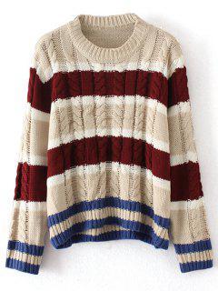 Rayas De Cable Jersey De Punto Suéter - Raya