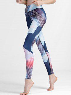 Slim Fit Patterned Yoga Leggings - M