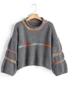 Striped Chunky Sweater - Deep Gray