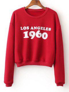 Logo Delantero Flojo Camiseta Impresa - Rojo S
