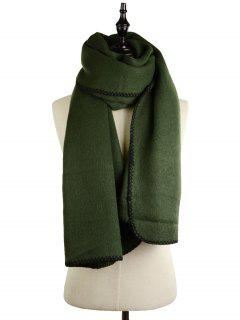 Cover Edge Thicken Scarf - Blackish Green