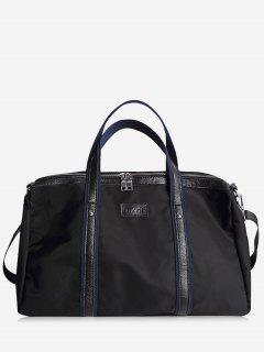 Rivets Zipper Gym Bag - Black