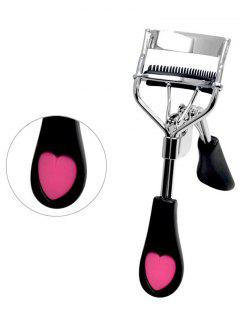 Heart Decorated Wide View Angle Eyelash Curler - Black
