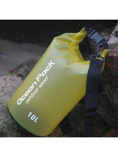Outdoor Sport Beach Waterproof Bucket Bag - Yellow