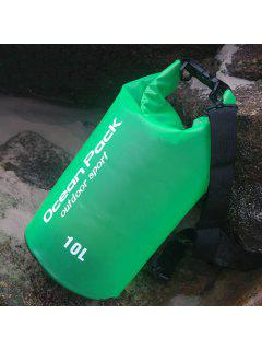 Outdoor Sport Beach Waterproof Bucket Bag - Green