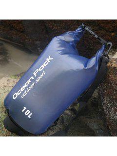 Outdoor Sport Beach Waterproof Bucket Bag - Blue