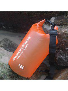 Outdoor Sport Beach Waterproof Bucket Bag - Orange