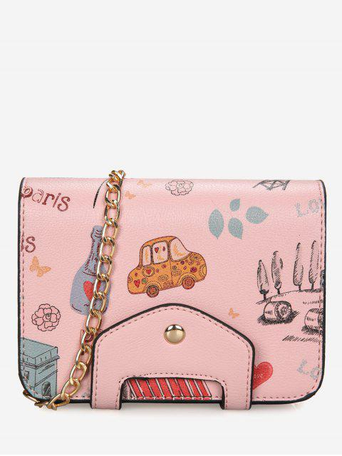 buy Print Patchwork Chain Crossbody Bag -   Mobile