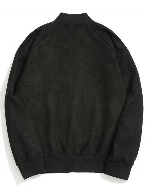 wildlederjacke mit rei verschluss schwarz jacken m ntel. Black Bedroom Furniture Sets. Home Design Ideas