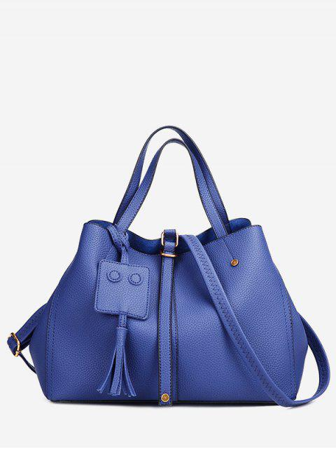 women's Buckle Strap Studs Tassel Handbag -   Mobile