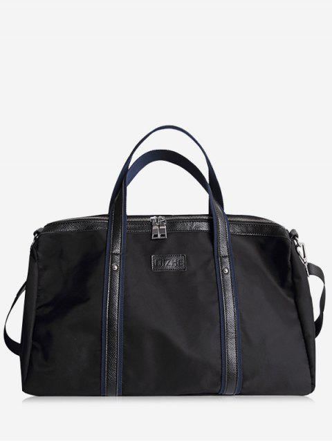 Rivets Zipper Gym Bag - Schwarz  Mobile
