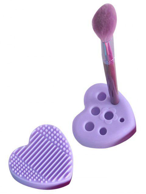 Huevos de cepillo de herramienta de limpieza de forma de corazón - Púrpura  Mobile