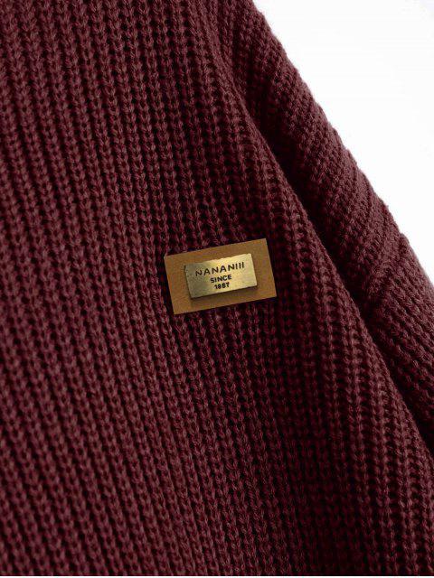 ZA Suéter de Película con Insignia de Gran Tamaño L - Dark Red Talla única Mobile
