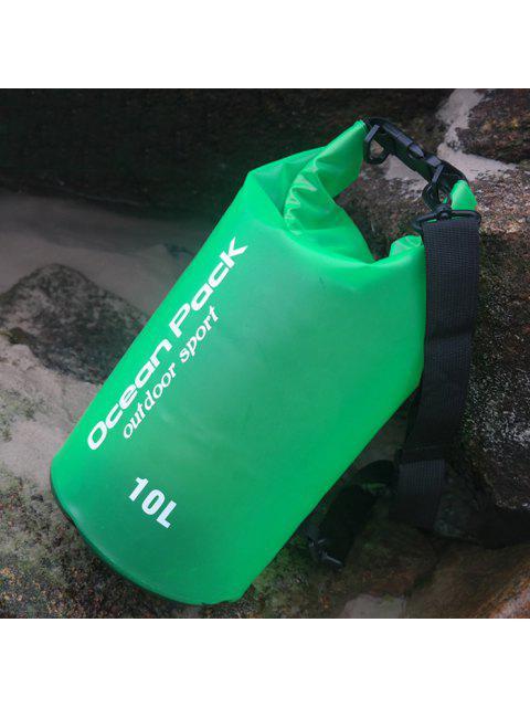 Bolso impermeable del cubo de la playa del deporte al aire libre - Verde  Mobile