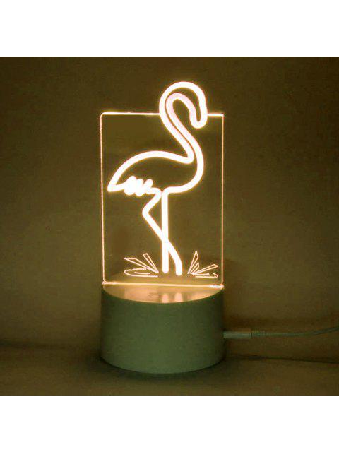 Cambiando de color Flamingo Shape Telecontrol Night Light - Transparente  Mobile