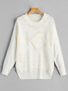 Strappy Crew Neck Sweater - Quase Branco