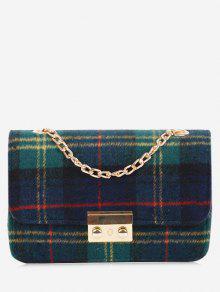 سلسلة حقيبة اللون منقوشة حقيبة كروسبودي - أخضر