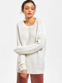 Backless Tunic Sweater OFF-WHITE: Sweaters ONE SIZE | ZAFUL