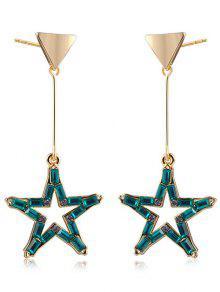 Pendientes De Cristal De Faux Crystal Triangle - Dorado