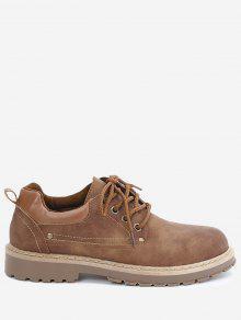 حذاء كاجوال من الجلد المزيف مزين بمسامير - 44