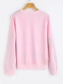 Graphic Floral Sweatshirt PINK: Sweatshirts S | ZAFUL