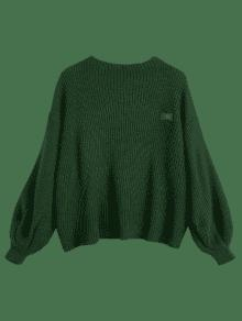 Oversized Chevron Patches Pullover Sweater GREEN: Sweaters ONE ...