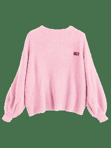 49% OFF  2019 ZAFUL Oversized Chevron Patches Pullover Sweater In ... d17291692