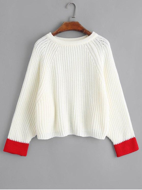 Suéter de dos tonos - Blanco Única Talla