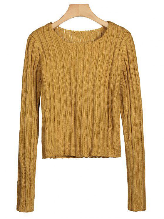 Suéter de cuello redondo Chunky - Jengibre Única Talla