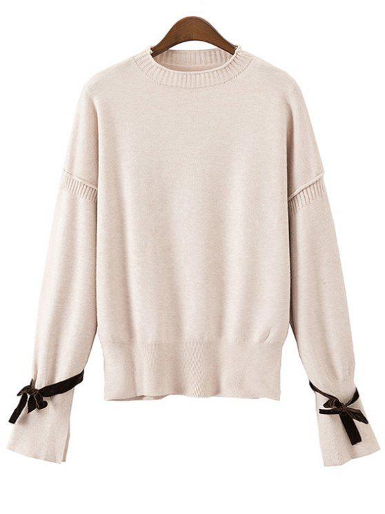 Suéter con mangas abiertas Bowknot - Blancuzco Talla única