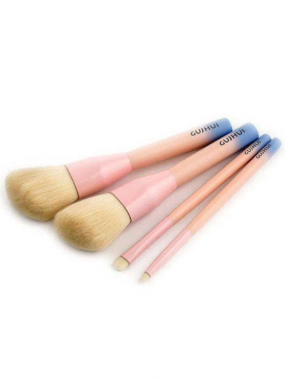 4 PCS Ensemble Pinceau Maquillage à Trois Tons - ROSE PÂLE