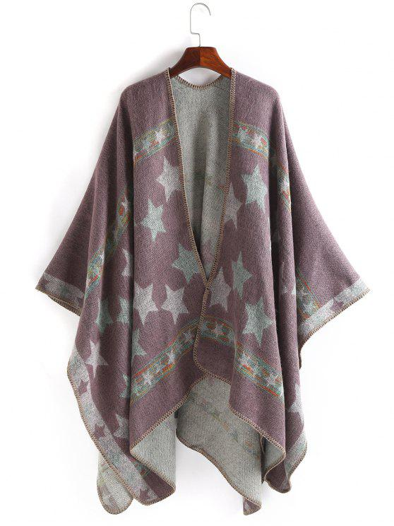 best Stars Pattern Thicken Pashmina - PINKISH PURPLE